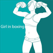 Girl in boxing