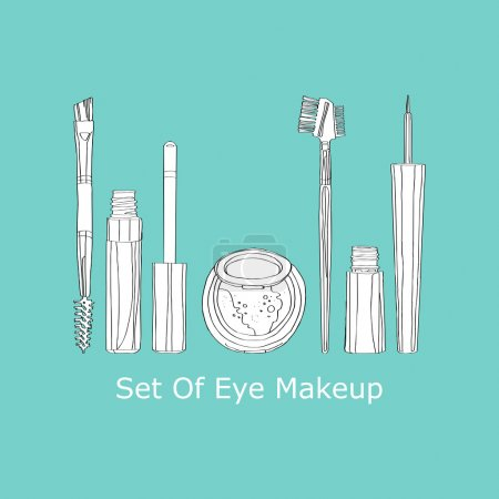 Set of eye makeup
