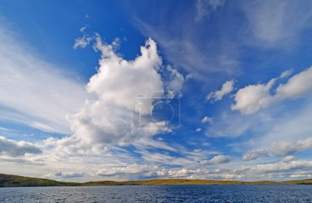 High Clouds over a Remote Lake