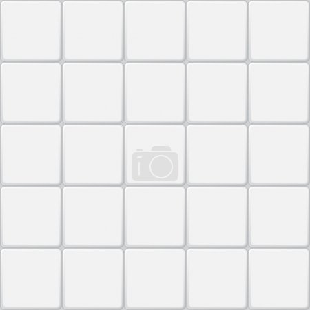 Illustration for White tile seamless pattern, minimalistic vector background - Royalty Free Image