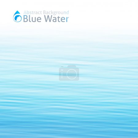 Illustration for Vector water background with drop icon - Royalty Free Image