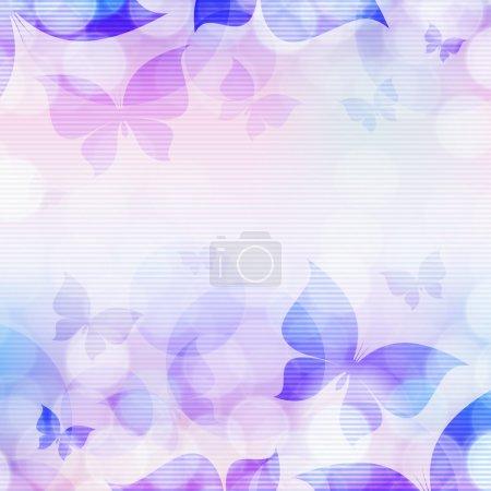 Illustration pour Beau fond abstrait avec des papillons - image libre de droit