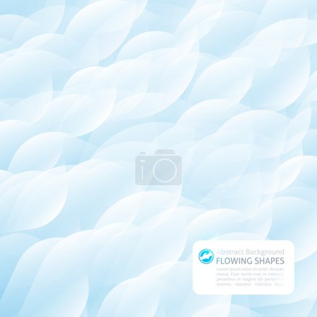 Illustration for Abstract background of flowing shapes - Royalty Free Image