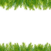 Christmas Tree Borders Isolated On White Background Vector Illustration