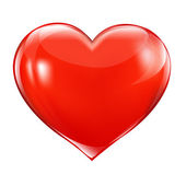 Big Red Heart Isolated On White Background Vector Illustration