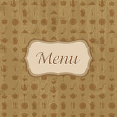 Wood Background With Menu