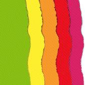 Color Torn Paper Borders Set
