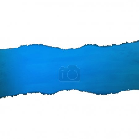 Blue Texture With Torn Paper