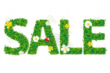Sale Text With Flowers