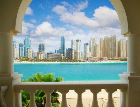 Photo pour Dubaï ville, vue de villa - image libre de droit
