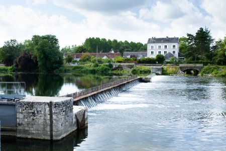 dam with wooden needles in France