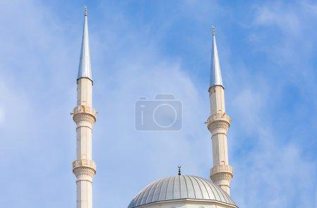 minaret and mosque in Turgutreis
