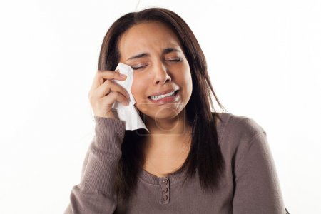 Photo for Unhappy woman crying - Royalty Free Image