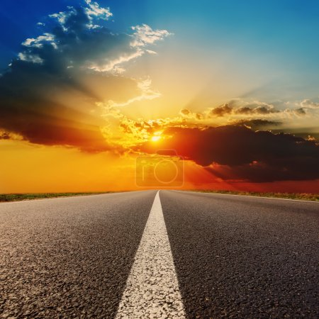Photo for Road to dramatic sunset - Royalty Free Image