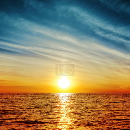 Photo for Sunset over water - Royalty Free Image