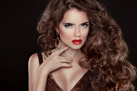 Beautiful hair, Fashion Woman Portrait. Beauty Model Girl with l