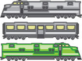 Glossy locomotive vector