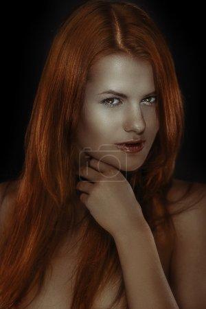 Very redhead girl