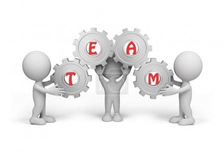 3d person team