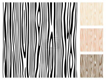 Illustration pour Motif vectoriel en bois sans couture . - image libre de droit