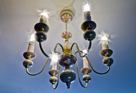 Chandelier with energy-saving lamps