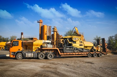 Truck on the asphalt plant