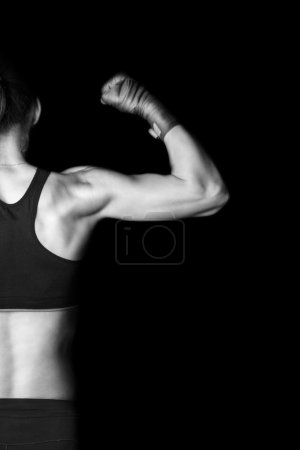 Photo for Woman kickboxer - Royalty Free Image