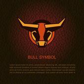Bull head. Vector illustration