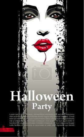 modèle de conception fête Halloween avec vampire