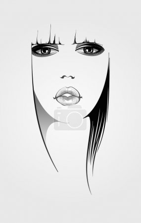 Illustration for Woman face illustration - Royalty Free Image
