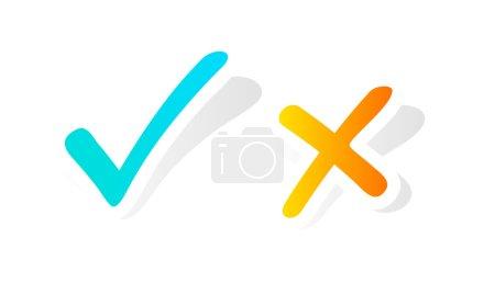 Illustration for ?heck mark graphic on white background. Vector illustration. - Royalty Free Image