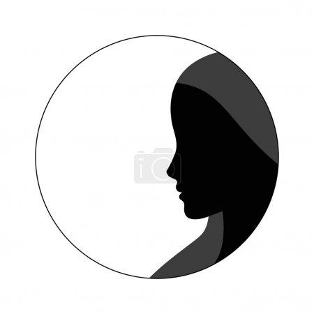 Illustration pour Illustration vectorielle silhouette femme - image libre de droit