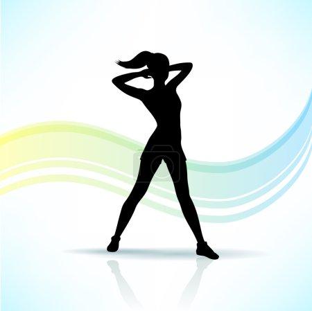 Sport, fitness woman silhouette