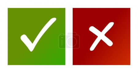 Illustration for Check mark graphic on white background. Vector illustration. - Royalty Free Image