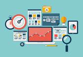 Website Seo und Analytics-Symbole