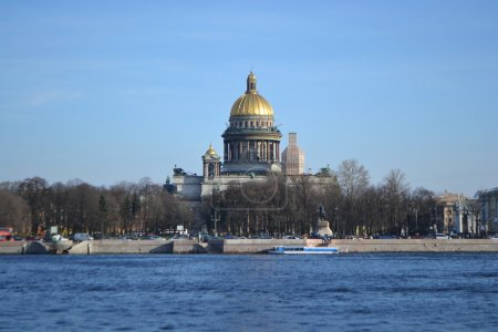 View of St. Isaac's Cathedral and the River Neva