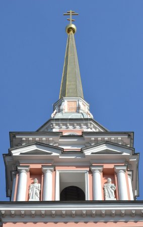 Steeple of the church of Cyril and Methodius