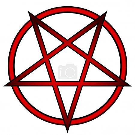 Pentagram icon on white background. Vector illustr...