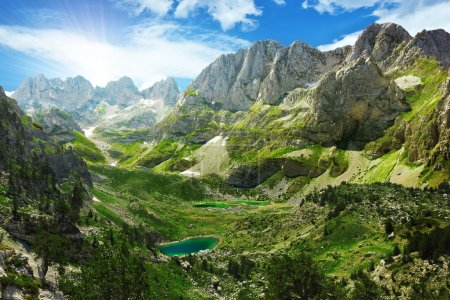 Photo for Amazing view of mountain lakes in Albanian Alps, national park Theth, Albania - Royalty Free Image