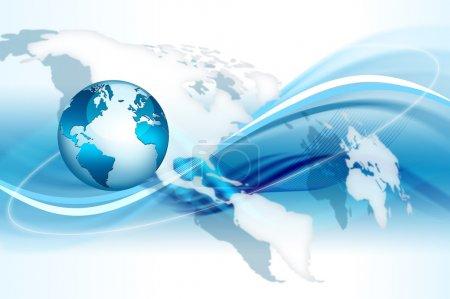 Photo pour Meilleur concept internet d'entreprise mondiale de la série concepts - image libre de droit