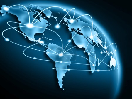 Photo pour Meilleur concept d'internet d'affaires global de concepts série - image libre de droit