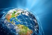 Planeta Země. nejlepší koncept globální podnikání od koncepty series