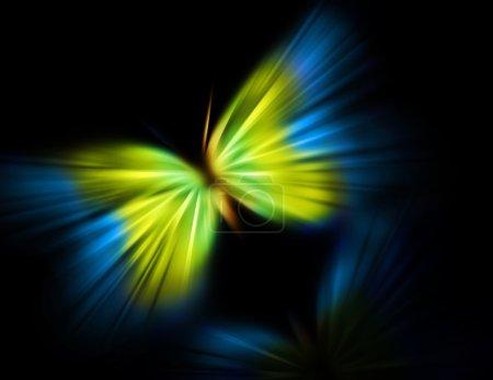 Photo pour Couleurs papillon du drapeau ukrainien - image libre de droit