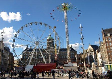 Photo pour Central square Amsterdam - Dam Square, Pays-Bas - image libre de droit
