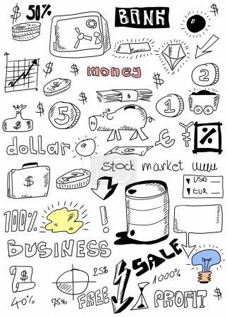 Photo pour Fond de commerce de Doodle - image libre de droit