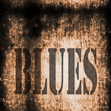 Photo for Blues word music abstract grunge background - Royalty Free Image