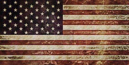 Photo pour Drapeau grunge Etats-Unis - image libre de droit