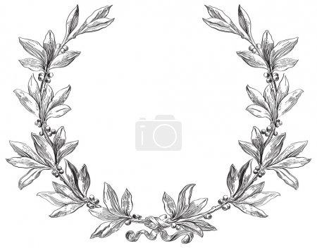 Illustration for Decorative element at engraving style. - Royalty Free Image