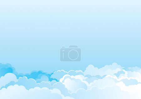 Illustration for Vector color horizontal background of cloudy sky - Royalty Free Image