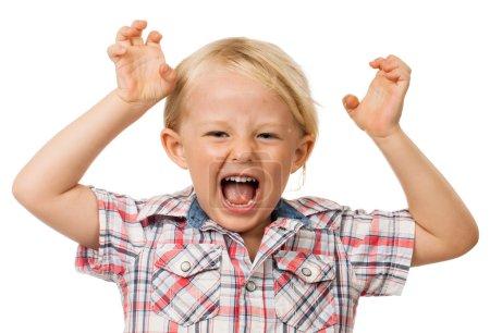 Hyperactive young boy